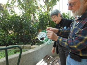 Eileen releasing butterfly