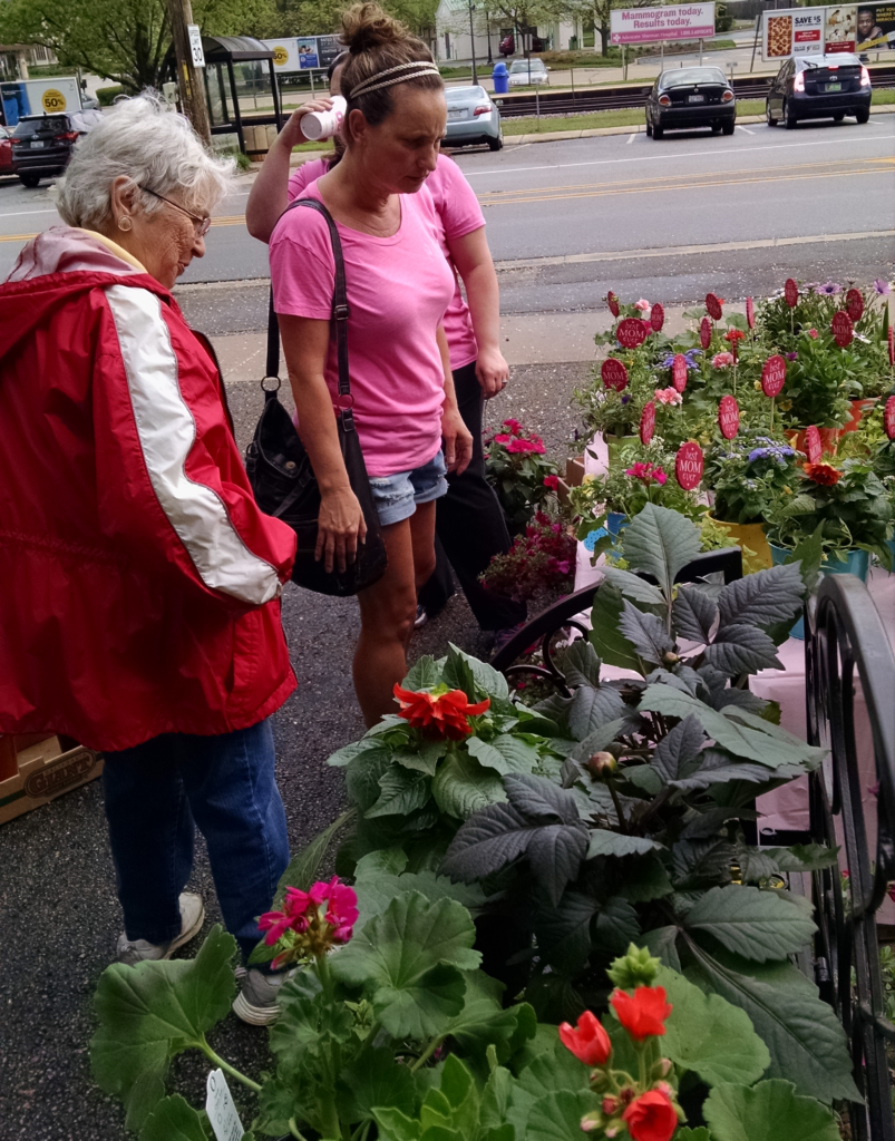 Peggy at plant sale 2016